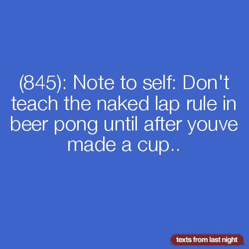 Something Naked lap beer pong